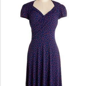 Kelly's Vivid in the Moment Dress - Polka dot